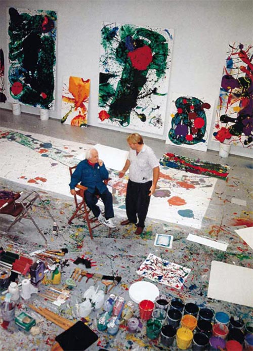 Sam Francis, the hottest American painter in Paris...