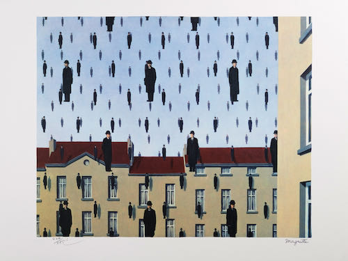 Rene Magritte, Golconda, 1953 | Article on ArtWizard