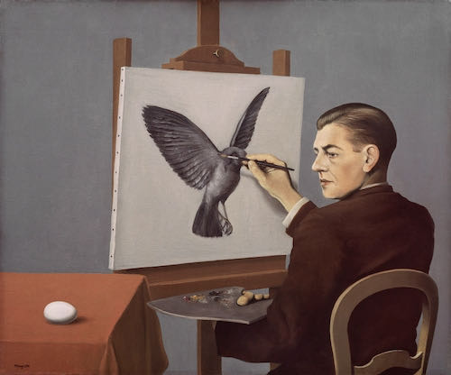 Rene Magritte, Clairvoyance, 1936 | Article on ArtWizard