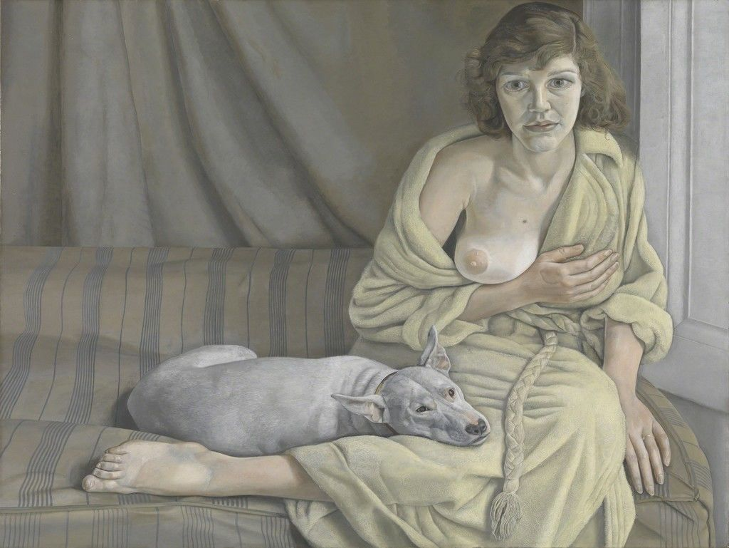 Lucian Freud, Girl with aa White Dog, 1950-51 | Article on ArtWizard