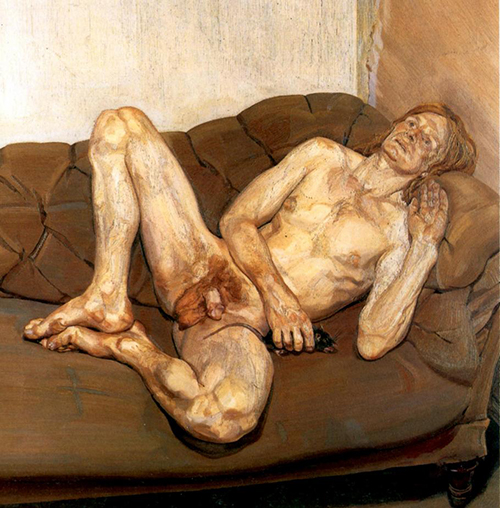 Lucian Freud, Naked man with a Rat, 1977 | Article on ArtWizard