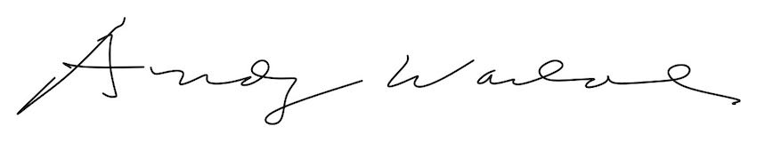 Signature of Andy Warhol | Article on ArtWizard