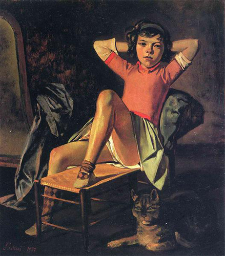 Balthus, Fille et chat, 1938   Article on ArtWizard