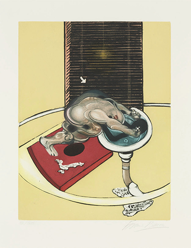 Francis Bacon, Figure at a wash basin from, 1976 | Article on ArtWizard