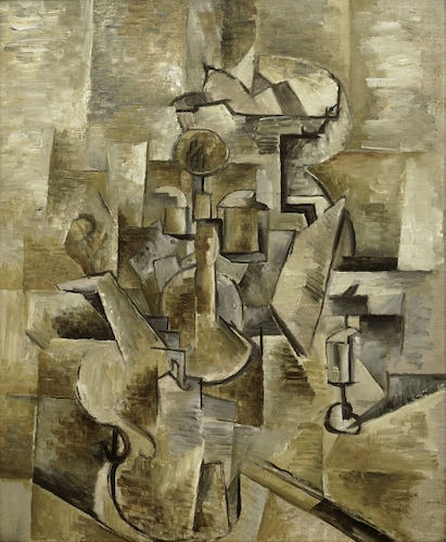 Georges Braque, Violin and Candlestiks, 1910   Article sur ArtWizard