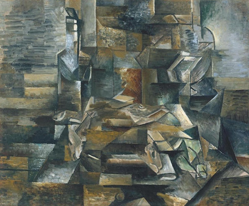 Georges Braque, Bottle and Fishes, 1910-12   Article sur ArtWizard