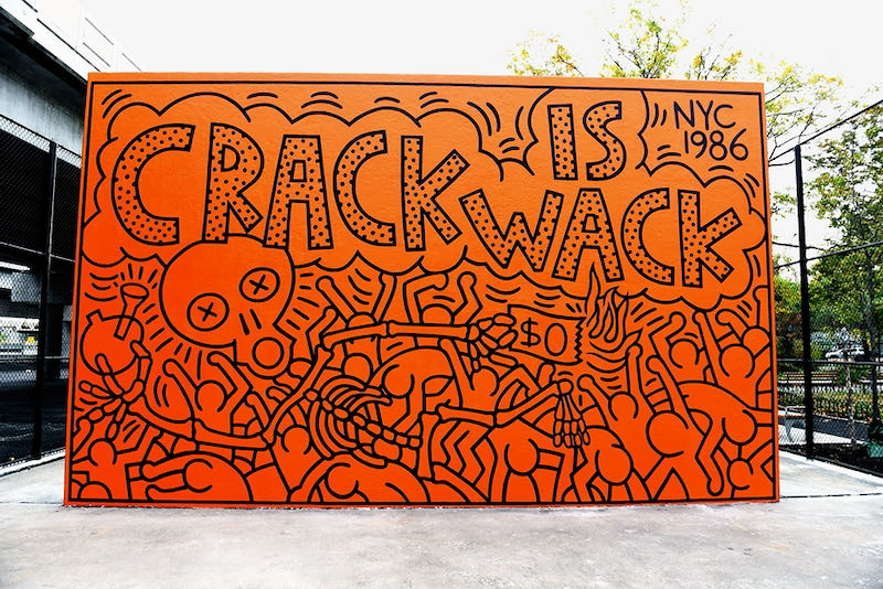 Keith Haring, Crack is Wack, 1986 | Article on ArtWizard