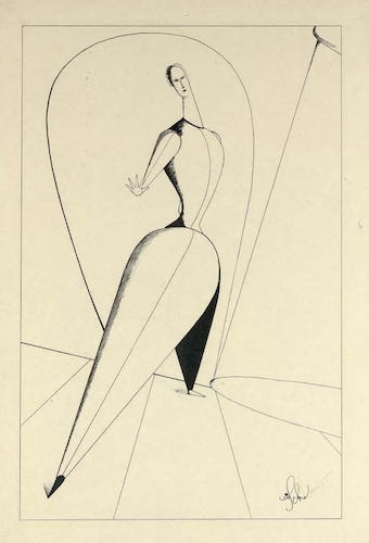 Oskar Schlemmer, Tänzerin, lithograph, 1923 | Article on ArtWizard