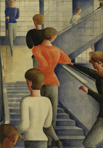 Oskar Schlemmer, Bauhaus Stairway, 1932 | Article on ArtWizard