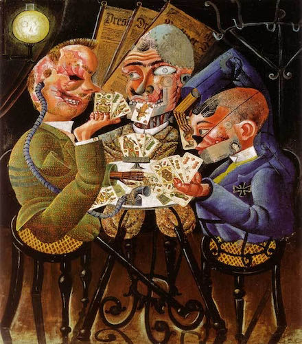 Otto Dix, Skat Players, 1920 | Article on ArtWizard