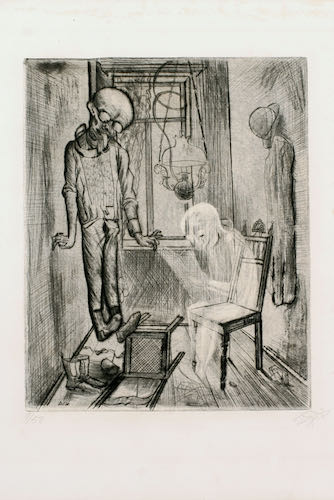 Otto Dix, Suicide (The Hanged Man), 1922 | Article on ArtWizard