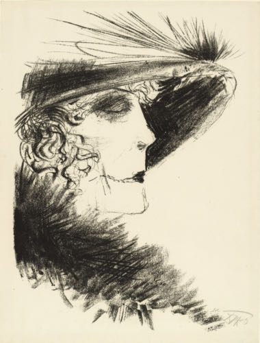 Otto Dix, Lady with Feathered Hat, 1923 | Article on ArtWizard