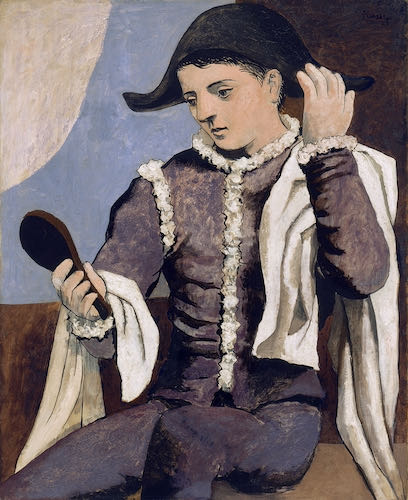 Pablo Picasso, Harlequin with aa Mirror, 1923 | Article sur ArtWizard