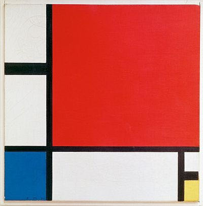 Piet Mondrian, Composition with red blue and yelow, c.1930 | Article on ArtWizard