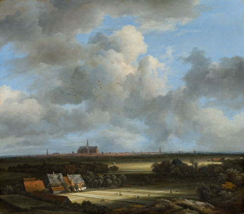 Jacob van Ruisdael, View of Haarlem with Bleaching Grounds, c. 1670 - 1675 | Article on ArtWizard | Article on ArtWizard