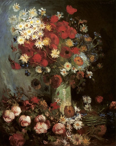 Vincent van Gogh, Vase with Poppies, Daisies, Cornflowers, and Peonies, 1886 | Article on ArtWizard