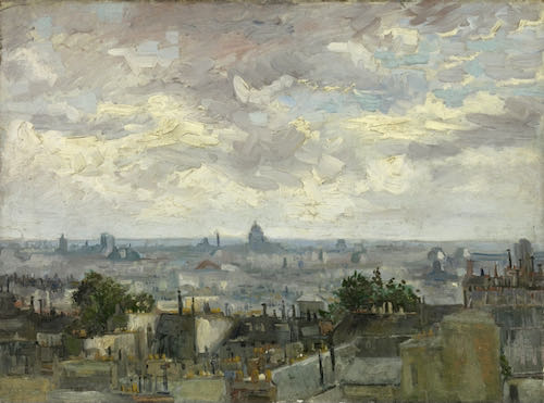 Vincent van Gogh, The Roofs of Paris, 1987 | Article on ArtWizard