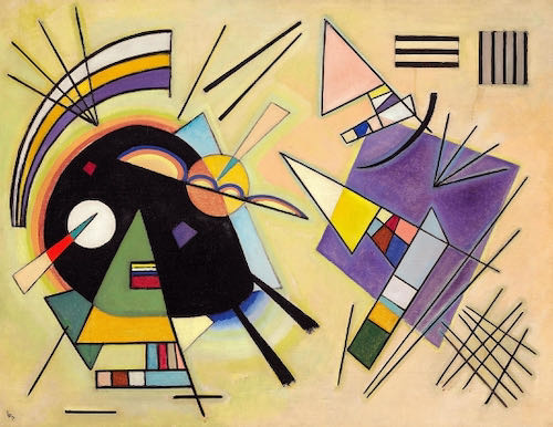 Wassily Kandinsky, Black and Violet, 1923 | Article on ArtWizard