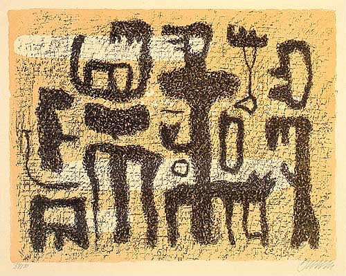 Willi Baumeister, African Tale, 1942 | Article on ArtWizard