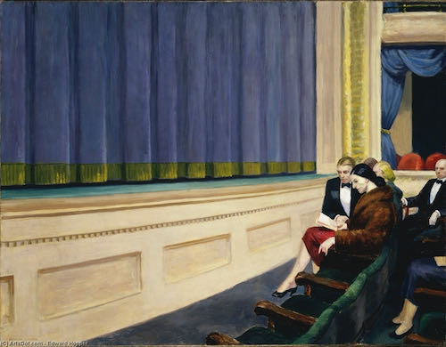 Edward Hopper, First Row Orchestra, 1951   Article on ArtWizard